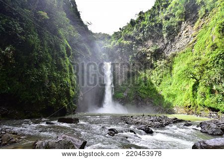 Tappiya fall in Batad, Philipines which is UNESCO heritage.