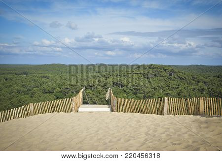 Pilat dune, the largest sand dune in Europe near Arcachon Gironde France Aquitaine