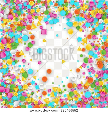 Holiday Confetti Background