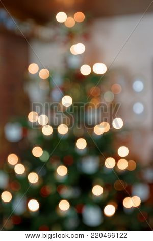 Blurred Background Concept Abstract of Christmas Tree