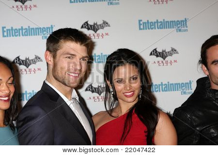 LOS ANGELES - JUL 23:  Liam McIntyre, Katrina Law arriving at the EW Comic-con Party 2011 at EW Comic-con Party 2011 on July 23, 2011 in Los Angeles, CA