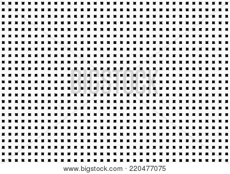 Square checkered seamless pattern background. Quadratic geometric shape grunge dot, hand drawn spot design. Vector illustration