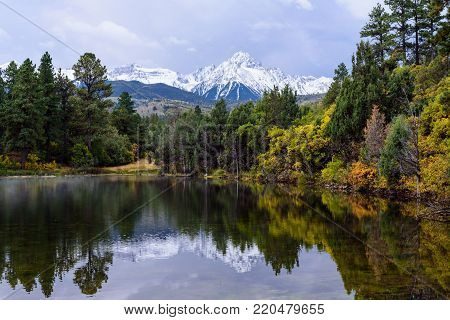 Autumn Scenery in the Beautiful Rocky Mountains of Colorado - The San Juan Range in Autumn