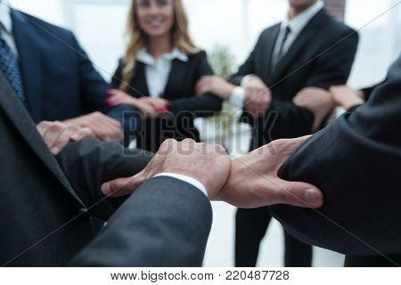 closeup. unified business team .
