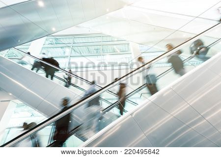 Blurred Business People On A Airport
