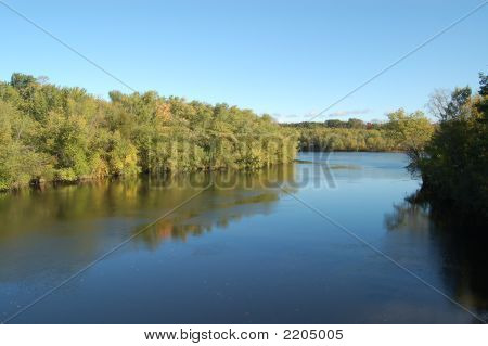 Merrimack River In Early Autumn
