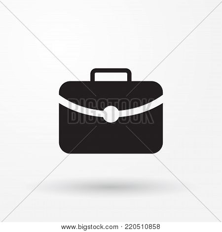 Flat Icon Of Briefcase Vector Web Icon. Flat Image For Web.