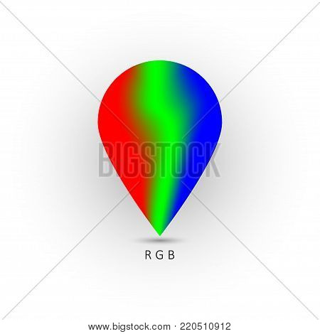 Rgb color pointer. Vector illustration. logo RGB