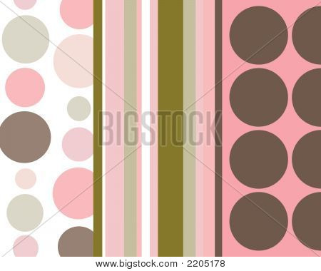 Retro Stripes And Circles Background