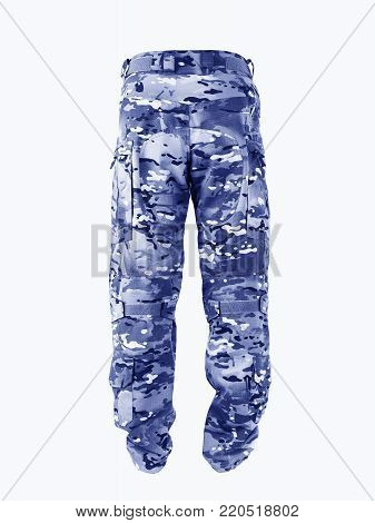 Chest pants for outdated activities. Camouflage pants