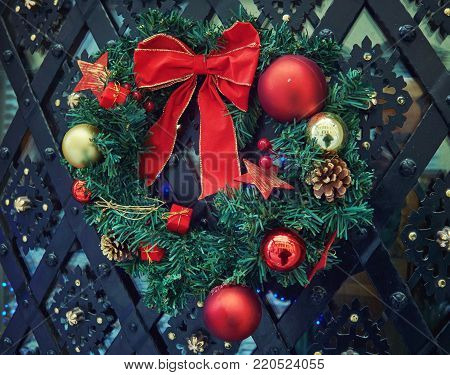 Wreath salad for christmas and new year