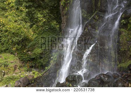 Ribeira dos Caldeiroes waterfall, Sao Miguel Island - Azores