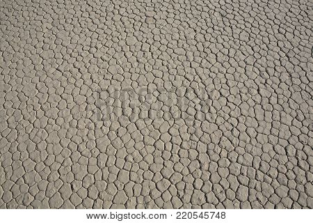 Chapped dirt in Death Valley National Park