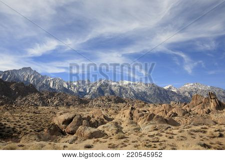 Famous Movie Road in Lone Pine, California