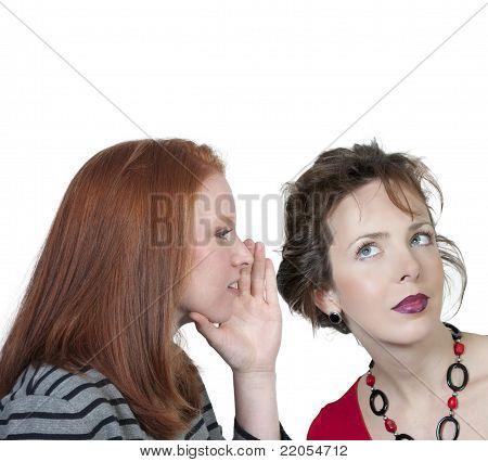 Woman Whispering A Secret