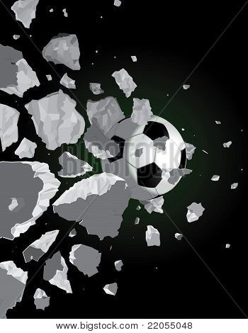 Soccer Ball And The Wall
