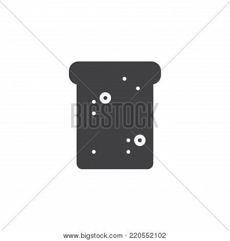 Toast bred icon vector, filled flat sign, solid pictogram isolated on white. Breakfast symbol, logo illustration.
