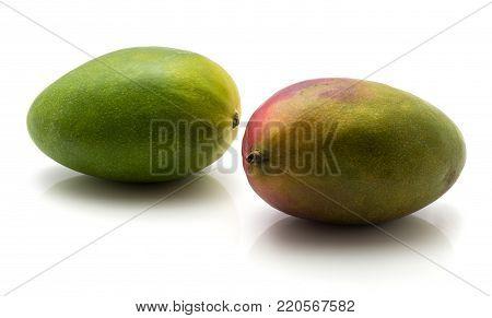 Mango isolated on white background two ripe