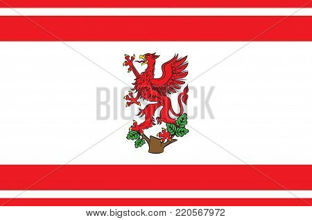 Flag of Greifswald is a city in northeastern Germany. Vector illustration