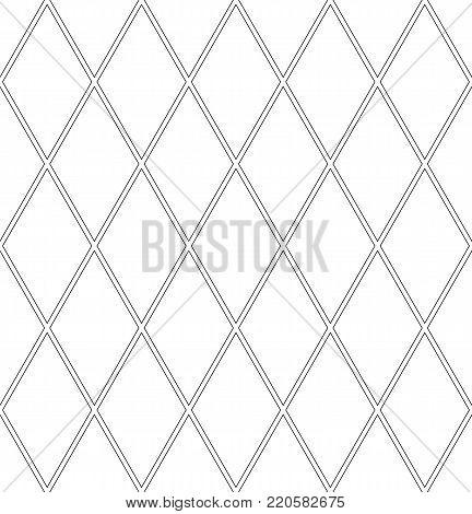 Seamless diamonds pattern. Lattice geometric texture. Vector art.