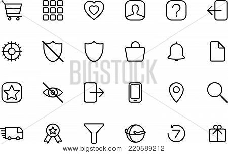 Delivery, online shoping, logistics, shipping vector thin line icons set. simple line graphic design for website, web design, mobile app.