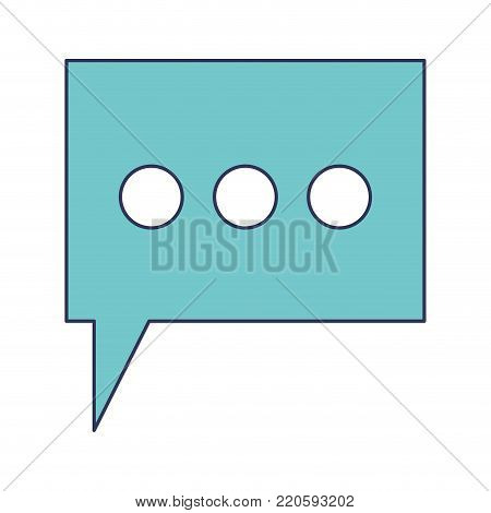 dialogue box with tail and three suspension points in colorful silhouette vector illustration