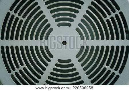 Texture of fan cover motor, Close up fan cover of motor