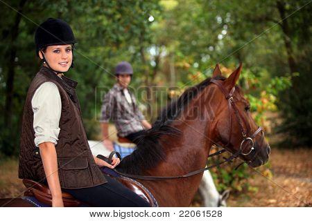 A horseback rider poster