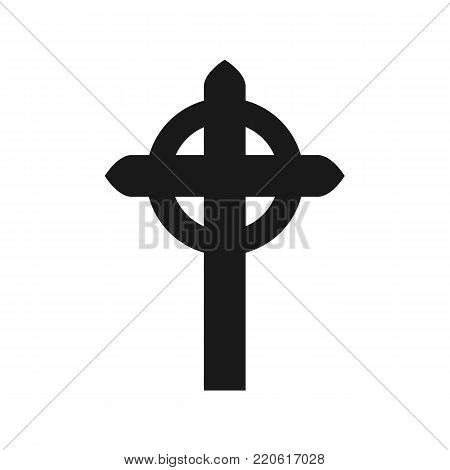 Celtic cross icon isolated on white background. Vector stock.