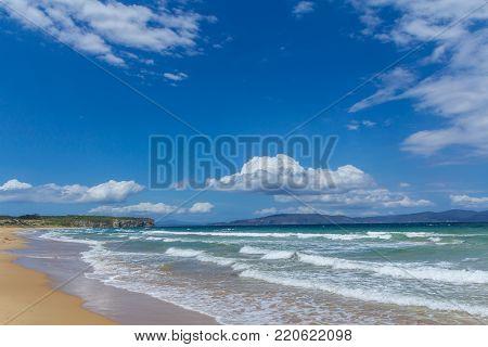 Sunny Austrailian sandy beach, clifton southern Tasmania