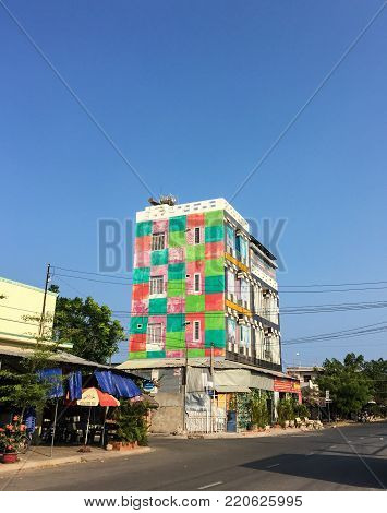 Ho Chi Minh city, Vietnam - Apr 5, 2016. Modern buildings located at Hoc Mon District in Ho Chi Minh city, Vietnam.