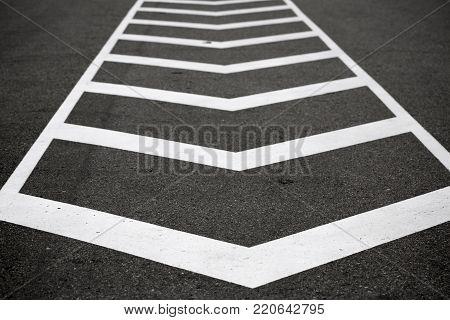 painted road markings on the road Horizontal