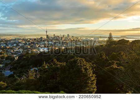 Auckland Central Business District - A view from Mt Eden