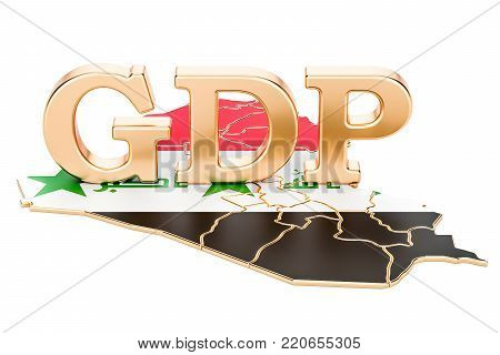 gross domestic product GDP of Iraq concept, 3D rendering isolated on white background