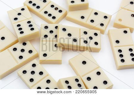 Domino different figures on a white background