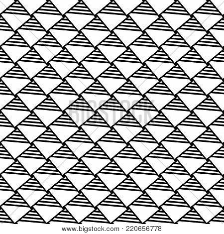 Seamless checked pattern. Geometric latticed texture. Vector art.