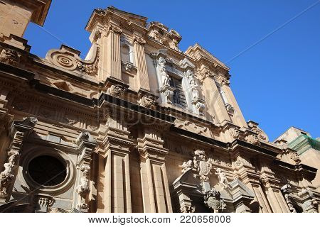 Chiesa e Collegio dei Gesuiti Church in Trapani. Sicily. Italy