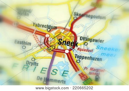 Sneek, a city in the province of Friesland, Netherlands (Europe).
