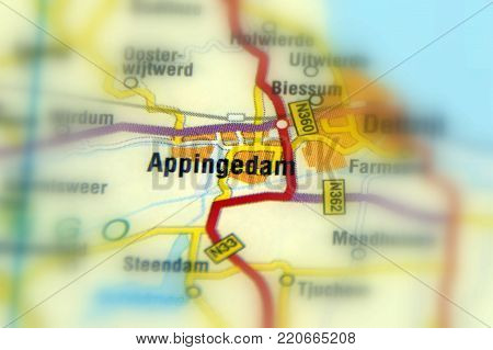 Appingedam, a city in the northeastern Groningen, Netherlands (Europe).