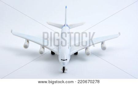 Plane Plastic Toy Isolated On White Background