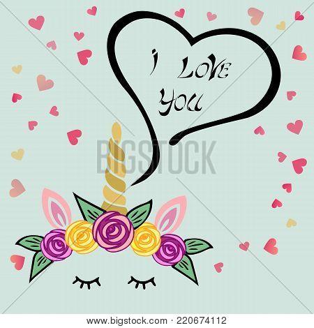 Cute Love You Vector En Foto Gratis Proefversie Bigstock