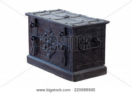forged chest antique decorative art objects isolated
