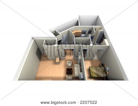 Aerial View Of Roofless Apartment
