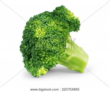 Fresh broccoli isolated on white background Health, Healthy, Brocoli, Green, Color, White, Object,