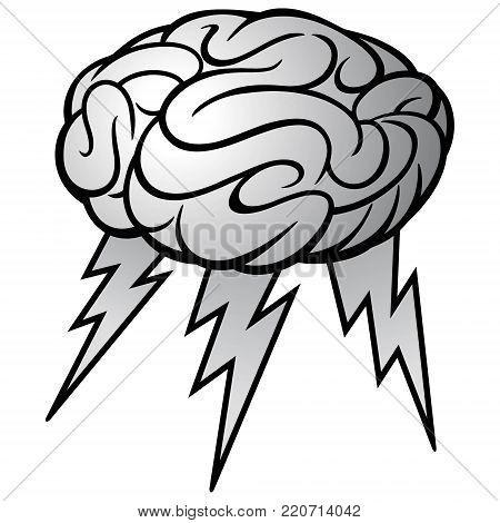 Brain Storm Illustration - A vector cartoon illustration of a Brain Storm concept.