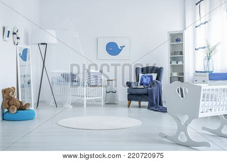 Teddy Bear In Kid's Bedroom