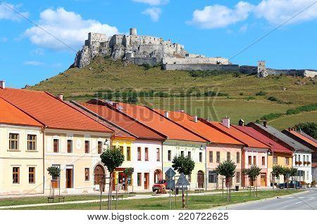 Spisske Podhradie town and Spis Castle (Spissky hrad), Presov Region, Slovakia