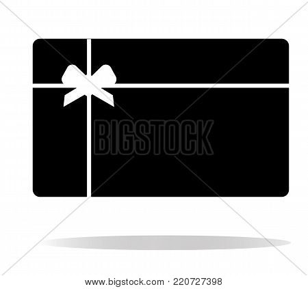 gift card icon on white background. gift card sign. flat style. gift card icon white shadow.