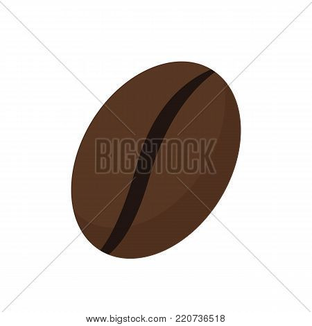 Coffee bean toasted isolated on white background. Vector stock.
