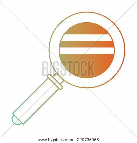 magnifying glass icon in degraded green to red color silhouette vector illustration